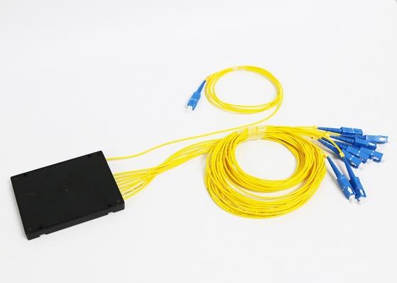 Divisor do Plc da fibra ótica 1*8 com o conector da fibra do ST LC do SC da manutenção programada FC
