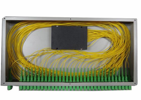 divisor de fibra ótica do PLC 1x16 para a caixa terminal montada cremalheira da fibra