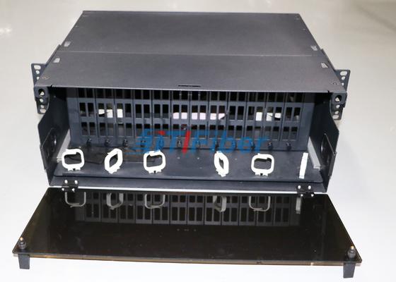 painel de remendo Slidable da fibra ótica 4U para módulo da gaveta da fibra de MTP/MPO
