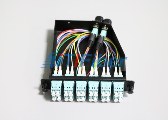 24 núcleos OM4 MTP/fibra ótica de MPO cabo de remendo para gavetas de MPO