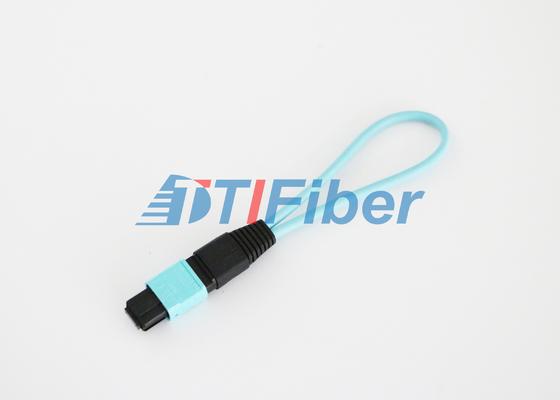 12 núcleo laço de retorno da fibra ótica de OM3 MPO/MTP com baixa perda de inserção