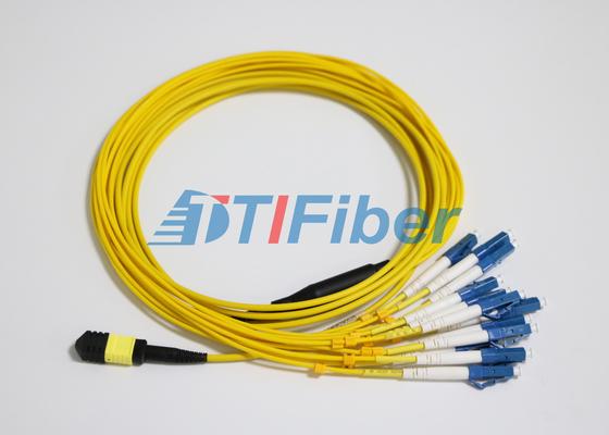 O remendo da fibra da manutenção programada MTP/MPO do LC conduz com o conector da fibra ótica do UPC