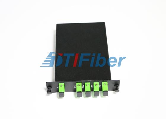 Caixa do divisor da fibra ótica do PLC de LGX com os adaptadores simples da fibra ótica do SC APC